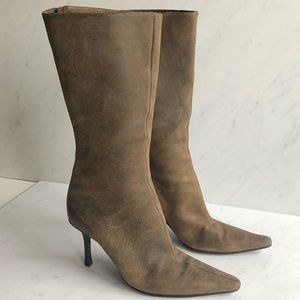 Jimmy Choo Antiqued Leather Heeled Boots